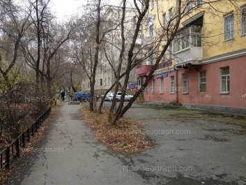 View to: Lenina avenue, 91; Generalskaya street, 12 (Детский сад №98, Домовенок). Yekaterinburg (Sverdlovskaya oblast)
