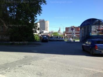 На фото видно: Вайнера улица, 34Б; Вайнера улица, 36; Малышева улица, 36. Екатеринбург (Свердловская область)