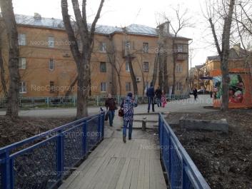 View to: Nekrasova street, 8; Pecherskaya street, 3. Yekaterinburg (Sverdlovskaya oblast)