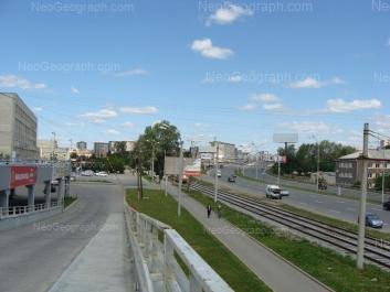 View to: Bebeliya street, 71 (Свердловский областной медицинский колледж, фармацевтический филиал); Marata street, 17. Yekaterinburg (Sverdlovskaya oblast)