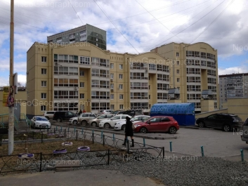 На фото видно: Готвальда улица, 23/2; Черепанова улица, 30. Екатеринбург (Свердловская область)