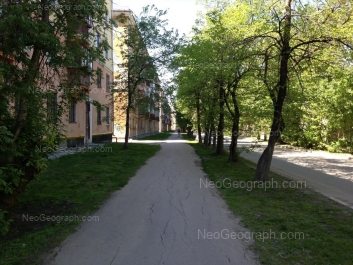 View to: Suvorovskiy lane, 11; Suvorovskiy lane, 14; Suvorovskiy lane, 15. Yekaterinburg (Sverdlovskaya oblast)