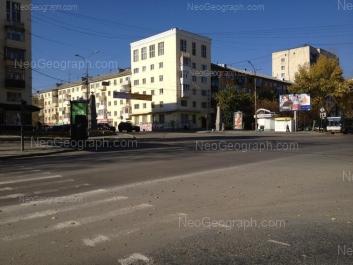 View to: Vostochnaya street, 166; Vostochnaya street, 170; Dekabristov street, 2 (Отделение Центра регистрации граждан Октябрьского района Екатеринбурга); Dekabristov street, 4. Yekaterinburg (Sverdlovskaya oblast)