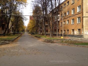 View to: Krasnikh Bortsov street, 3; Krasnikh Bortsov street, 5. Yekaterinburg (Sverdlovskaya oblast)