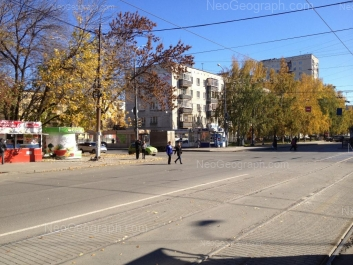 View to: 40-letiya Oktiabrya street, 78; 40-letiya Oktiabrya street, 80; Pobedi street, 42. Yekaterinburg (Sverdlovskaya oblast)