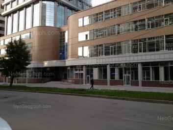 На фото видно: Мамина-Сибиряка улица, 101 (Манхэттен, бизнес-центр). Екатеринбург (Свердловская область)