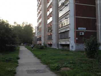 На фото видно: Комсомольская улица, 68; Фонвизина улица, 5. Екатеринбург (Свердловская область)