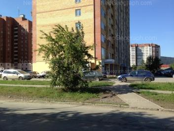 На фото видно: Патриса Лумумбы улица, 36; Санаторная улица, 19. Екатеринбург (Свердловская область)