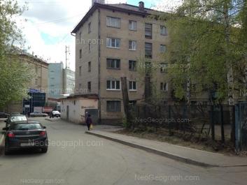 На фото видно: Асбестовский переулок, 5; Блюхера улица, 11. Екатеринбург (Свердловская область)