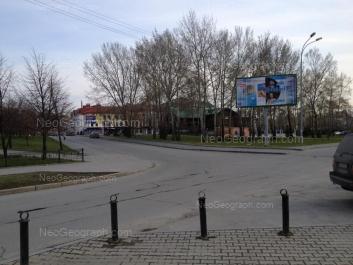 На фото видно: Клары Цеткин улица, 1 (Дом Журналистов); Пролетарская улица, 11. Екатеринбург (Свердловская область)