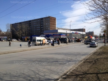 View to: Avtomagistralnaya street, 23; Pekhotintsev street, 5; Pekhotintsev street, 5; Pekhotintsev street, 9; Pekhotintsev street, 13. Yekaterinburg (Sverdlovskaya oblast)