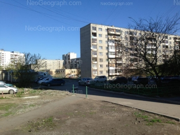 View to: Angarskaya street, 40; Angarskaya street, 42; Angarskaya street, 46а (Детский сад №46, Непоседы); Angarskaya street, 48; Bilimbaevskaya street, 34/4. Yekaterinburg (Sverdlovskaya oblast)