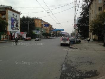 View to: Malisheva street, 114; Malisheva street, 116. Yekaterinburg (Sverdlovskaya oblast)
