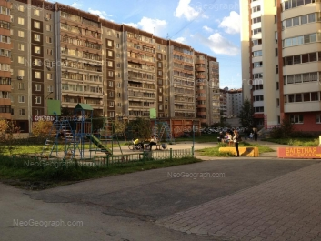 View to: Rodonitovaya street, 5 (Детский сад №415 на Родонитовой, Успешинка); Rodonitovaya street, 9; Rodonitovaya street, 9. Yekaterinburg (Sverdlovskaya oblast)