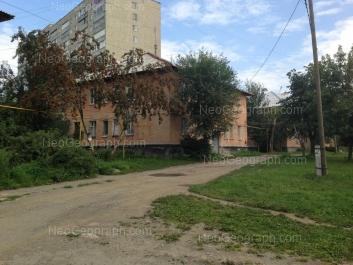 View to: Musorgskogo street, 11 (Пункт централизованной охраны №7 при УВО УМВД РФ); Musorgskogo street, 13; Musorgskogo street, 15. Yekaterinburg (Sverdlovskaya oblast)