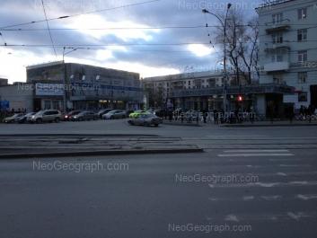 На фото видно: Университетский переулок, 1; 8 Марта улица, 52; Куйбышева улица, 32. Екатеринбург (Свердловская область)