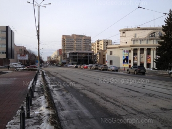 View to: Lunacharskogo street, 82; Lunacharskogo street, 87; Mamina-Sibiriaka street, 111; Pervomaiskaya street, 27 (Окружной дом офицеров); Shartashskaya street, 8; Shartashskaya street, 10. Yekaterinburg (Sverdlovskaya oblast)