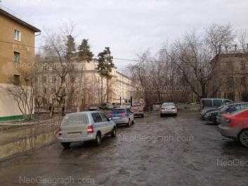 View to: Starikh Bolshevikov street, 9 (Храм в честь иконы Божией Матери Целительница); Starikh Bolshevikov street, 9 (Центральная городская больница №23); Stachek street, 5. Yekaterinburg (Sverdlovskaya oblast)