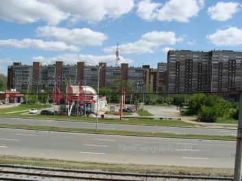View to: Bebeliya street, 63а (АЗС); Bebeliya street, 65; Bebeliya street, 132; Bebeliya street, 134. Yekaterinburg (Sverdlovskaya oblast)