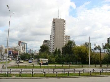 На фото видно: Куйбышева улица, 2; Московская улица, 125А (Детский сад №301). Екатеринбург (Свердловская область)