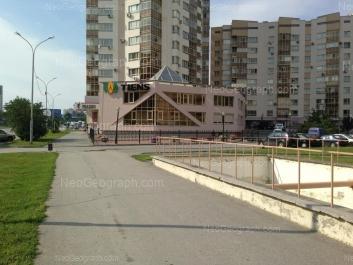 View to: Marshala Zhukova street, 14 (Пристрой, 2 этажа); Marshala Zhukova street, 14 (Жилой дом, 19 этажей); Marshala Zhukova street, 14. Yekaterinburg (Sverdlovskaya oblast)