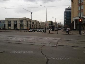 На фото видно: Сакко и Ванцетти улица, 74; Сакко и Ванцетти улица, 99 (Тихвин). Екатеринбург (Свердловская область)