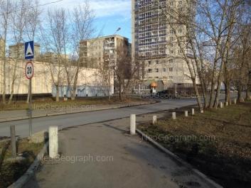 View to: Tkachei street, 16а; Tkachei street, 16; Tkachei street, 20. Yekaterinburg (Sverdlovskaya oblast)