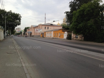 View to: Kuibisheva street, 42А (Центр социального обслуживания населения); Kuibisheva street, 42 (Баня Бодрость). Yekaterinburg (Sverdlovskaya oblast)