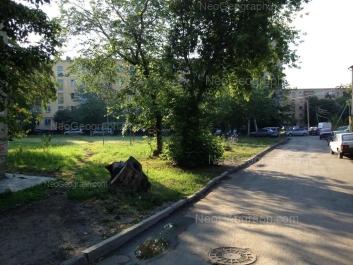 View to: Kosmonavtov avenue, 29; Kosmonavtov avenue, 31. Yekaterinburg (Sverdlovskaya oblast)