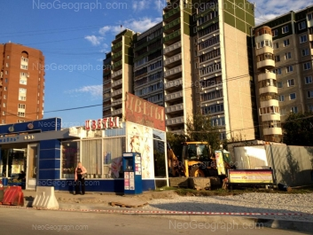View to: Akademika Shvartsa street, 18 к1; Akademika Shvartsa street, 20 к2. Yekaterinburg (Sverdlovskaya oblast)