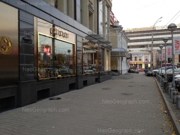 View to: Karla Libknekhta street, 1 (Уральский финансово-юридический институт - УрФЮИ); Malisheva street, 43; Malisheva street, 68а; Rozi Luksemburg street, 4 (Покровский пассаж, ТЦ). Yekaterinburg (Sverdlovskaya oblast)