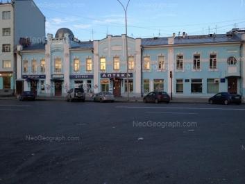 На фото видно: Пушкина улица, 16; Толмачёва улица, 17. Екатеринбург (Свердловская область)