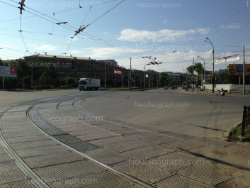 View to: Kosmonavtov avenue, 42; Krasnoflotsev street, 2. Yekaterinburg (Sverdlovskaya oblast)