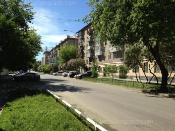 View to: Sheikmana street, 30; Sheikmana street, 32. Yekaterinburg (Sverdlovskaya oblast)