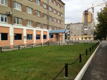 На фото видно: Крауля улица, 5; Крауля улица, 8. Екатеринбург (Свердловская область)