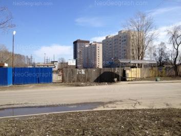 View to: Krupnosortschikov street, 5; Krupnosortschikov street, 6; Krupnosortschikov street, 8; Krupnosortschikov street, 10; Krupnosortschikov street, 14. Yekaterinburg (Sverdlovskaya oblast)