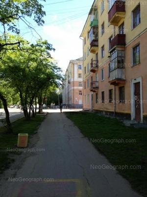 View to: Suvorovskiy lane, 14; Suvorovskiy lane, 16. Yekaterinburg (Sverdlovskaya oblast)