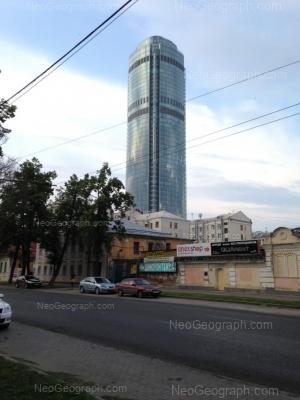 View to: Malisheva street, 51 (Высоцкий, бизнес-центр); Malisheva street, 74 (отель Екатеринбург-Центральный); Rozi Luksemburg street, 3. Yekaterinburg (Sverdlovskaya oblast)