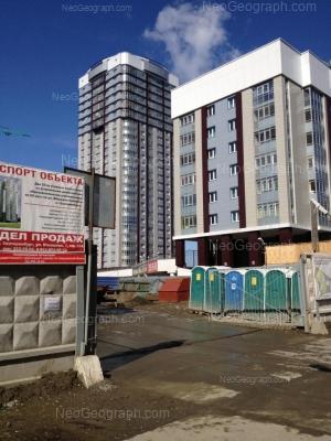 На фото видно: Юмашева улица, 5; Юмашева улица, 9. Екатеринбург (Свердловская область)