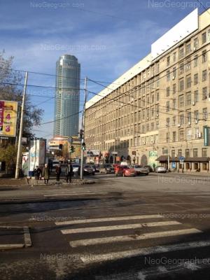 На фото видно: Малышева улица, 53 (Антей, торгово-развлекательный центр); Малышева улица, 63. Екатеринбург (Свердловская область)