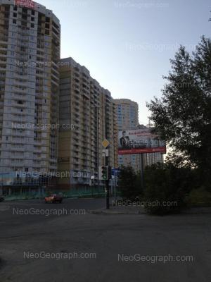 На фото видно: Библиотечная улица, 45; Комсомольская улица, 78. Екатеринбург (Свердловская область)