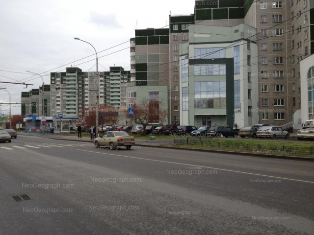 Address(es) on photo: Krestinskogo street, 55 к1, 59 к1, Yekaterinburg