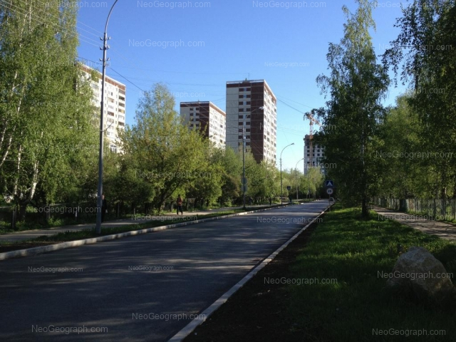 Address(es) on photo: Reshetnikova driveway, 12, 14, 16, Yekaterinburg