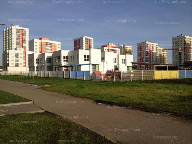 На фото видно здание с адресом улица Краснолесья, 116, Екатеринбург - детский сад 23