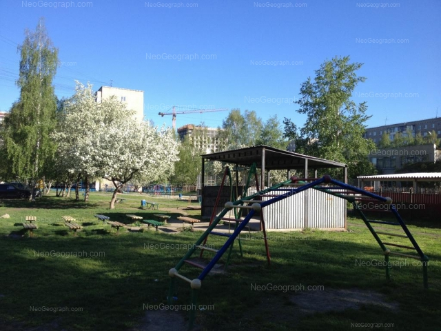 На фото видно здание с адресом детский сад 31, улица Бардина, 47А, Екатеринбург