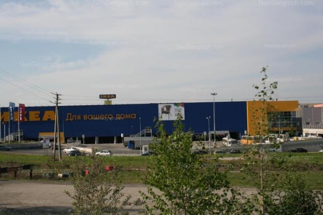 Вид c Объездной дороги на ТРЦ ТРЦ Мега, Екатеринбург. Адрес: улица Металлургов улица, 87