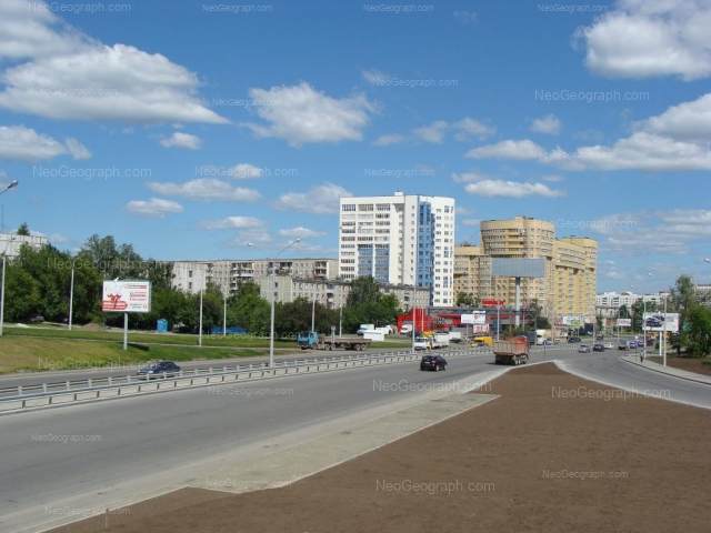 Вид на перекресток улиц Крауля-Токарей, Екатеринбург, Свердловкая область