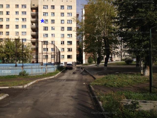 Вид на общежитие УРФУ №13, улица Комсомольская, 66А, Екатеринбург