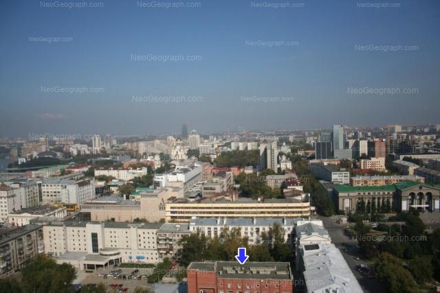 Вид на Екатеринбург с высоты птичьего полета