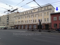 View to the building of Firehouse, Yekaterinburg city, Russia